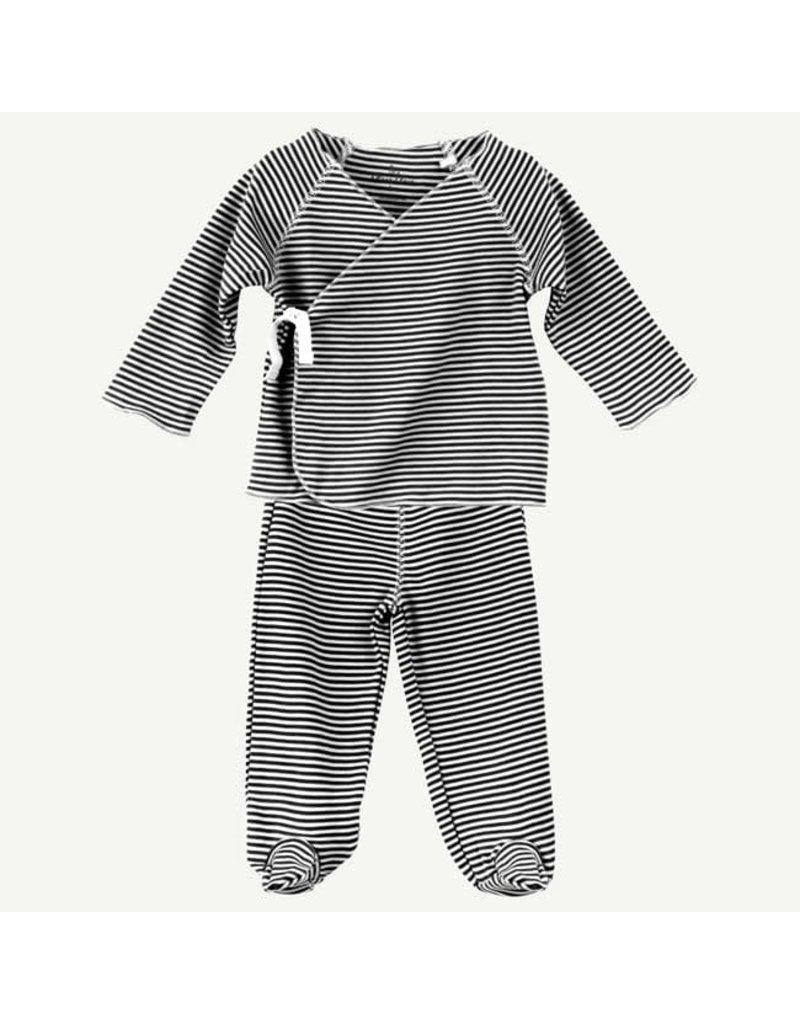 Oliver & Rain Oliver & Rain 2-Piece Pima Cotton Kimono Set