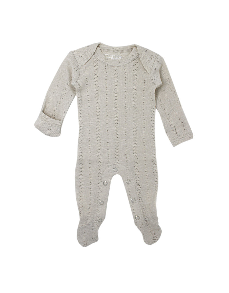 L'ovedbaby L'ovedbaby - Lap Shoulder Footed Overall Pointelle