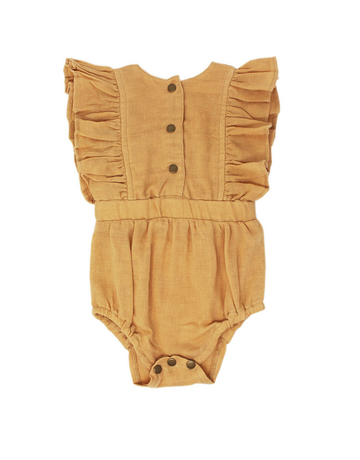 L'ovedbaby L'ovedbaby - Muslin Ruffle Bodysuit