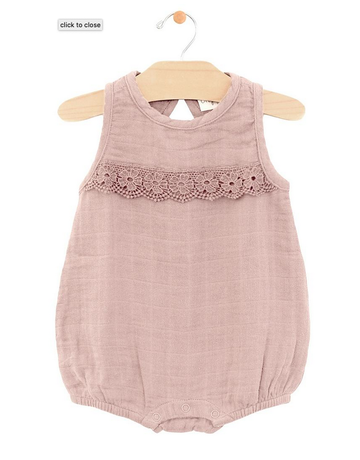 City Mouse - Muslin Lace  Romper
