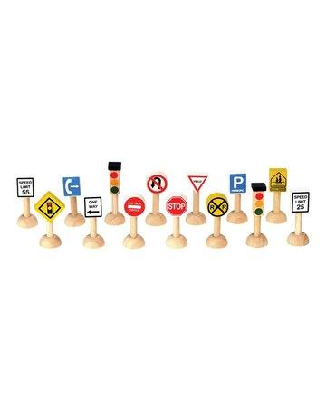 Plan Toys, Inc. Plan Toys Set of Traffic Signs