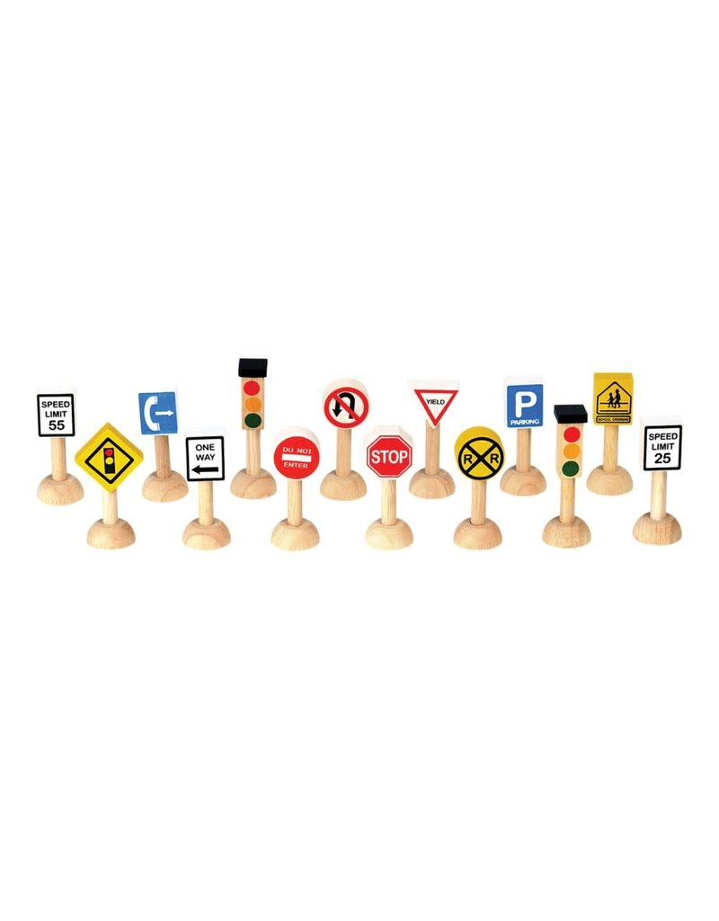 Plan Toys, Inc. Plan Toys Set of Traffic Signs