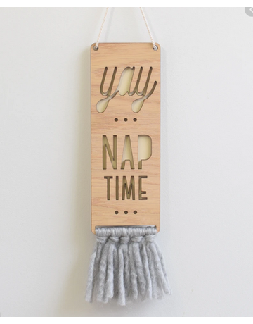 Tree By Kerri Lee Tree By Kerri Lee - Wood & Wool Nap Sign