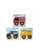 BeginAgain - Truck Puzzles 3 pack Chunky 5pc