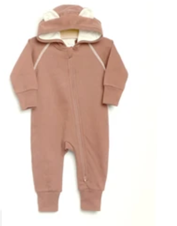 City Mouse - Thermal Hooded Romper