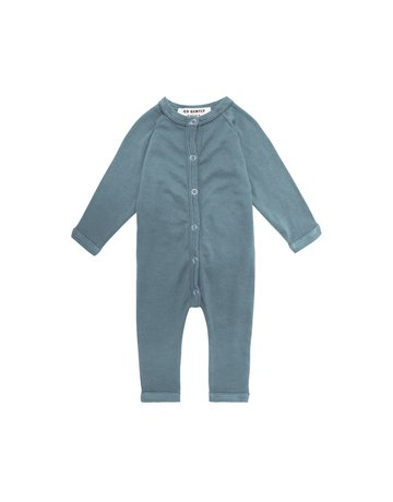 Go Gently Nation Go Gently - Solid Romper Rain 12-18