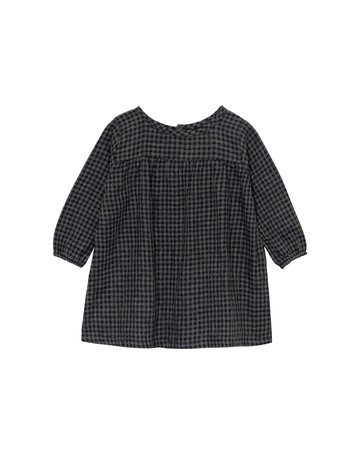 Go Gently Nation Go Gently Nation - Mila Dress Black/Gray Gingham 12-18