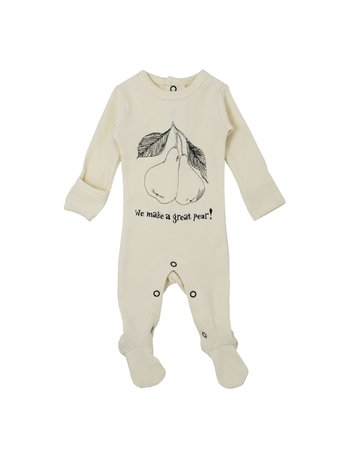 L'ovedbaby L'ovedbaby - Graphic Footie Beige Pear NB/PRM