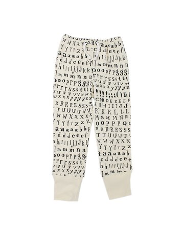 L'ovedbaby L'ovedbaby - Kids Jogger Pants Beige Letters 4T