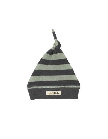 L'ovedbaby L'ovedbaby - Knotted Cap Gray/Seafoam Stripe PRM-NB