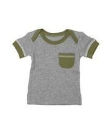L'ovedbaby L'ovedbaby - Short-Sleeve Tee Sage Heather 9-12