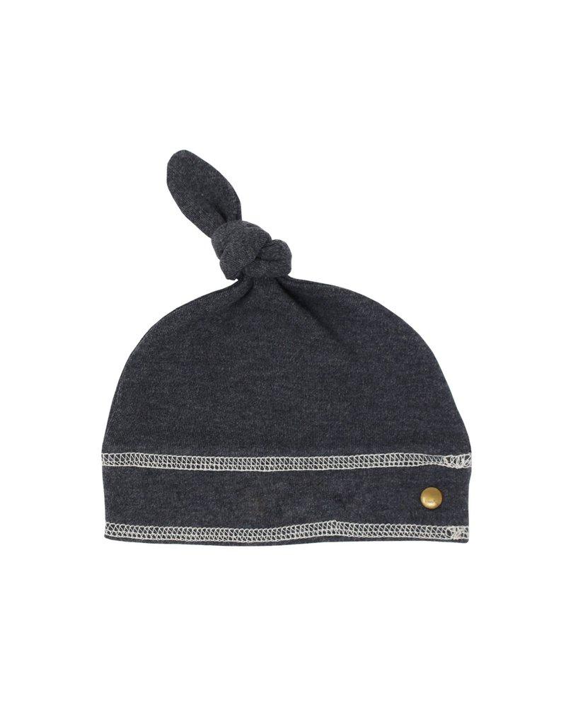 L'ovedbaby L'ovedbaby Top-Knot Hat Dark Heather/Beige NB-PRM