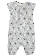 Serendipity Organics - Baby Puff Suit Indigo Flower 3m