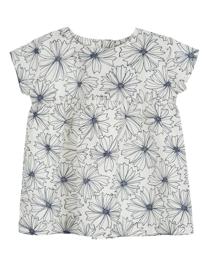 Serendipity Organics - Baby Dress Indigo Flower 12-18m