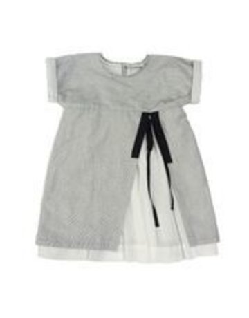 Treehouse - Dress+Slit (Ana) Stripes + Black 24M