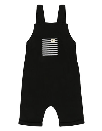 Turtledove London - Easy Fit Dungaree  Black/Shortie 1-2 years