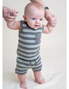 L'ovedbaby L'ovedbaby - Bike Shorts Gray/Seafoam Stripe 6-9
