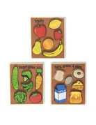 BeginAgain - Food/Grocrery Puzzles 3 pack 6pc