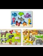 BeginAgain - Animal Puzzles 3 pack 6pc