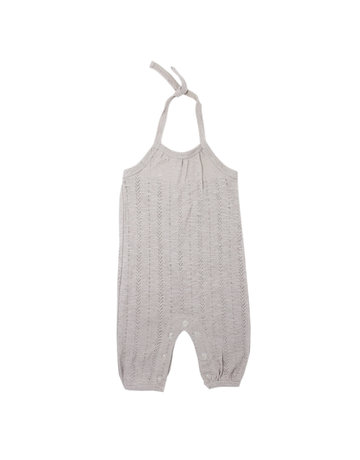 L'ovedbaby L'ovedbaby - Kids Pointelle Tie Romper Light Gray 2T