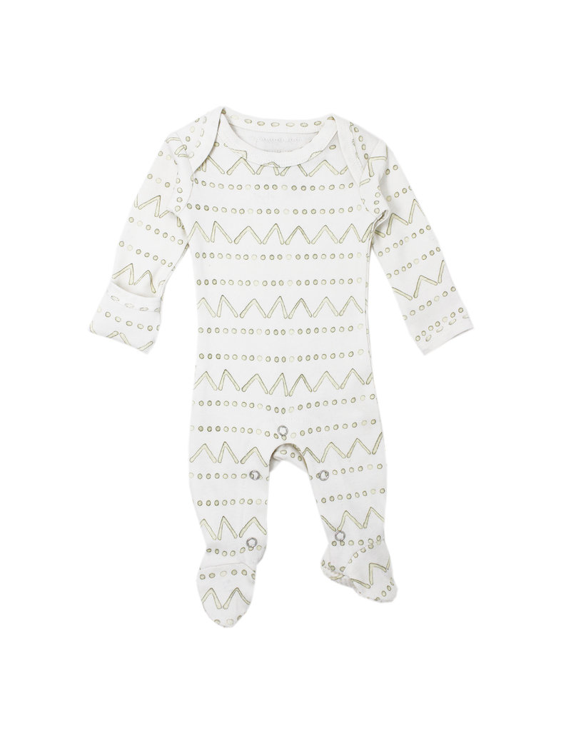 L'ovedbaby L'ovedbaby - Lap Shoulder Footed Overall Tribe Sage Mountains 0-3