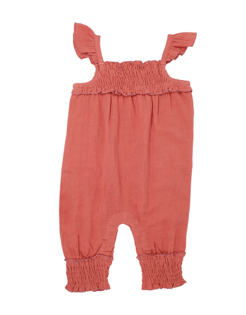 L'ovedbaby L'ovedbaby - Muslin Sleeveless Romper Kids Melon 2T
