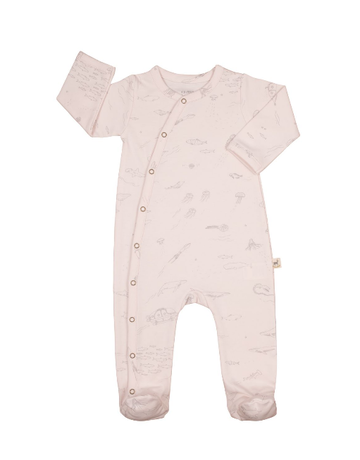 Red Caribou Footed Jumpsuit