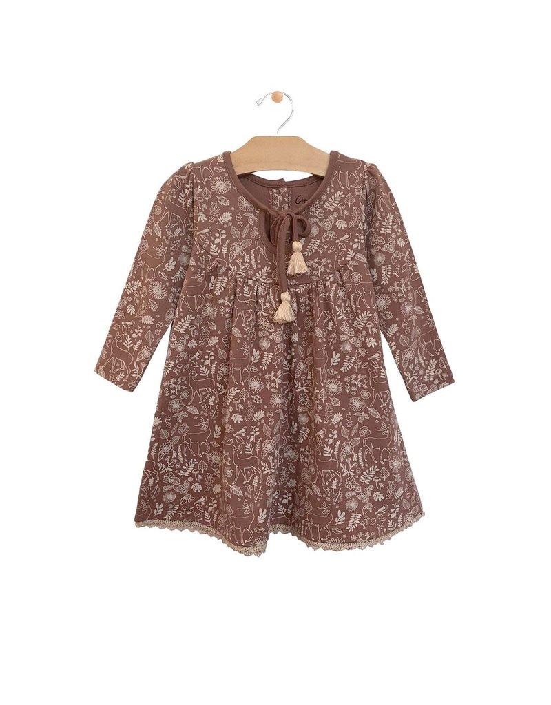 City Mouse Lace Hem Dress