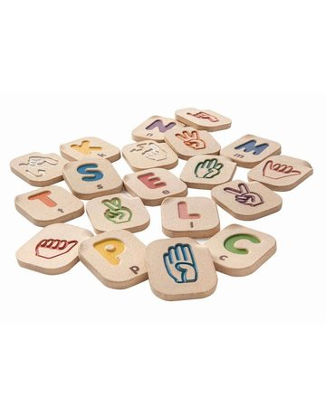 Plan Toys, Inc. Plan Toys Hand Sign Alphabet A-Z