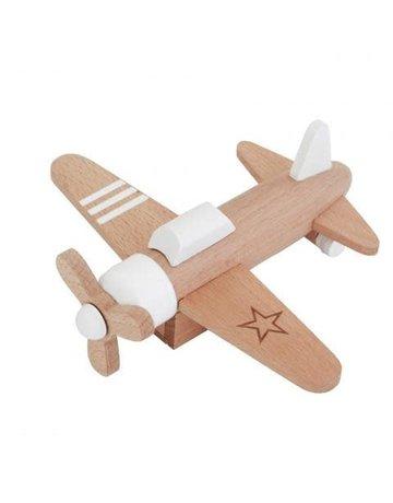 kiko gg Kiko+ &GiGi - Wooden Windup Propeller Plane