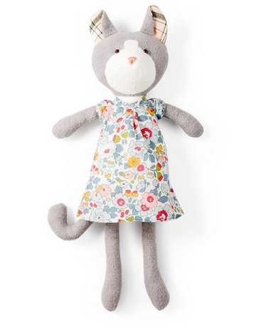 Hazel Village Hazel Village Animals Gracie Cat In Clover Pink Dress