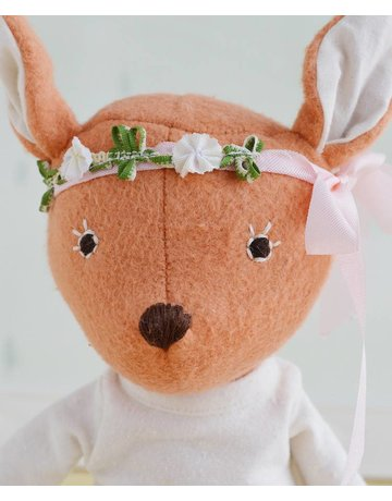 Hazel Village Hazel Village Animals Phoebe Fawn In Tunic and Flower Crown