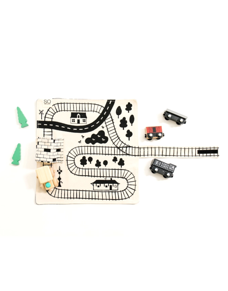 So Handmade So Handmade Train Playmat