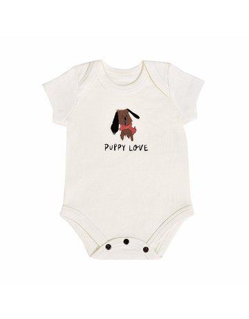Finn + Emma Finn + Emma - Lap S/S Bodysuit Graphic Puppy Love 12-18