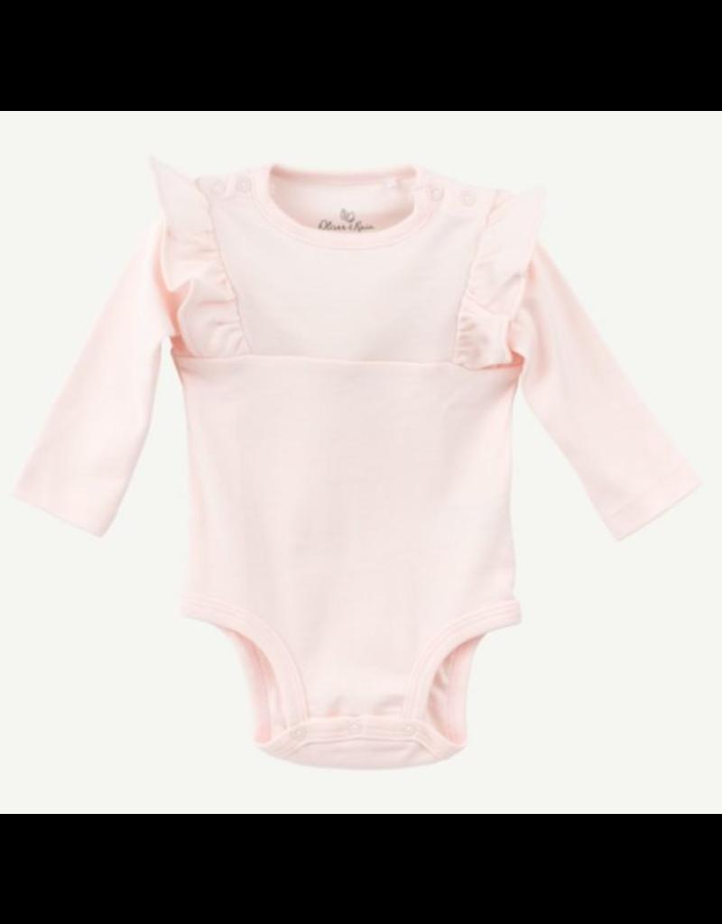 Oliver & Rain Oliver & Rain Pima Cotton Flutter Sleeve Bodysuit