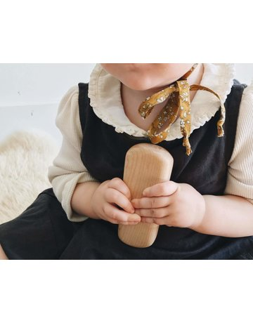 Earnest Efforts Earnest Efforts Wooden Teething Rattle
