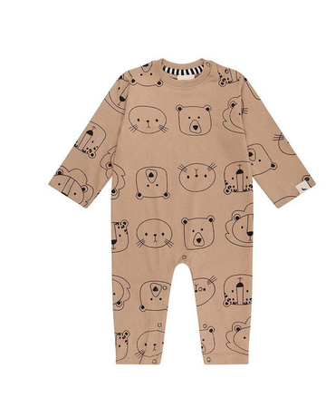 Turtledove London - Playsuit Cub Face 0-3M