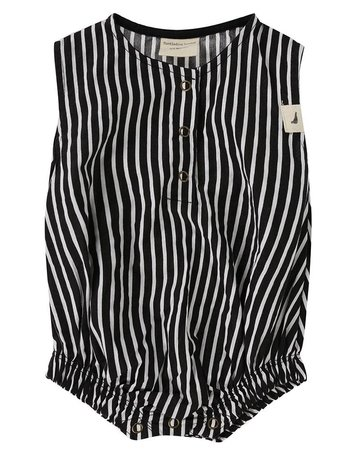 Turtledove London - Bubble Romper Stripe 1-2 Y
