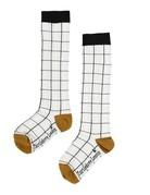 Turtledove London - Knee High Socks Grid 6-12M