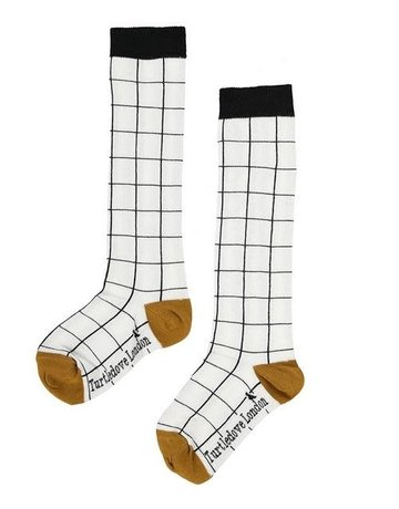 Turtledove London - Knee High Socks Grid 1-3Y