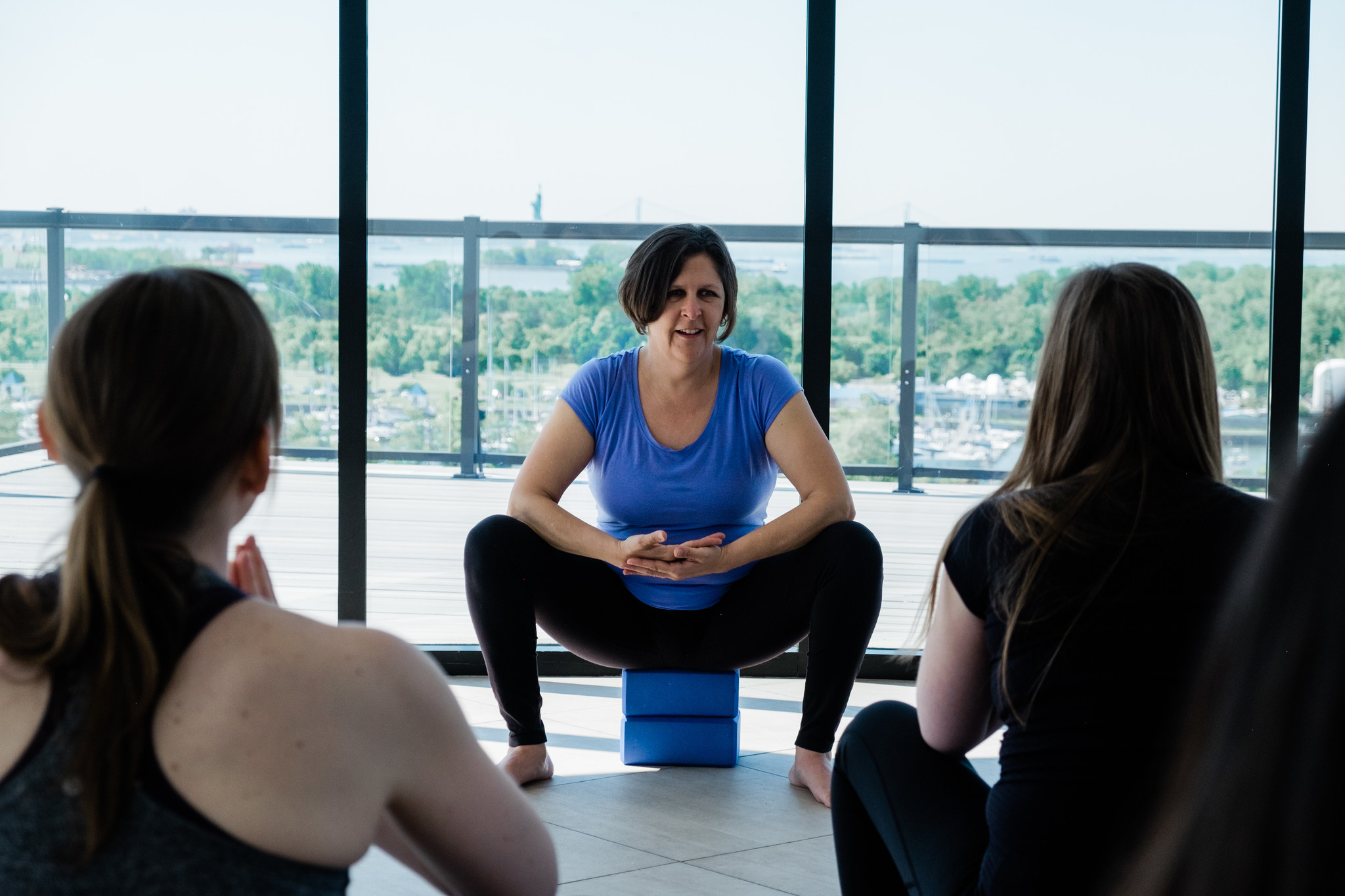 Postpartum support group prenatal yoga