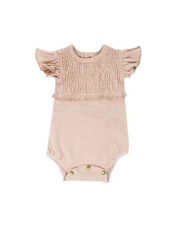 L'ovedbaby L'ovedbaby - Smocked S-Sleeve Bodysuit