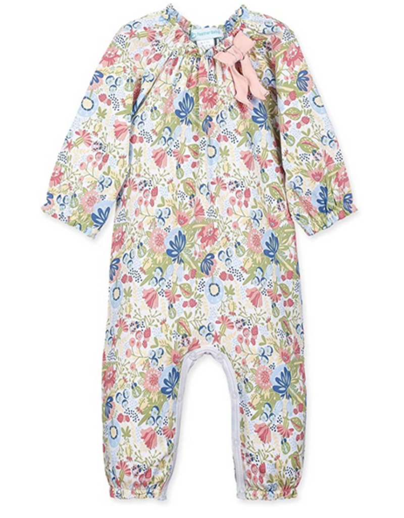 Feather Baby Feather Baby- L/S Bow Romper