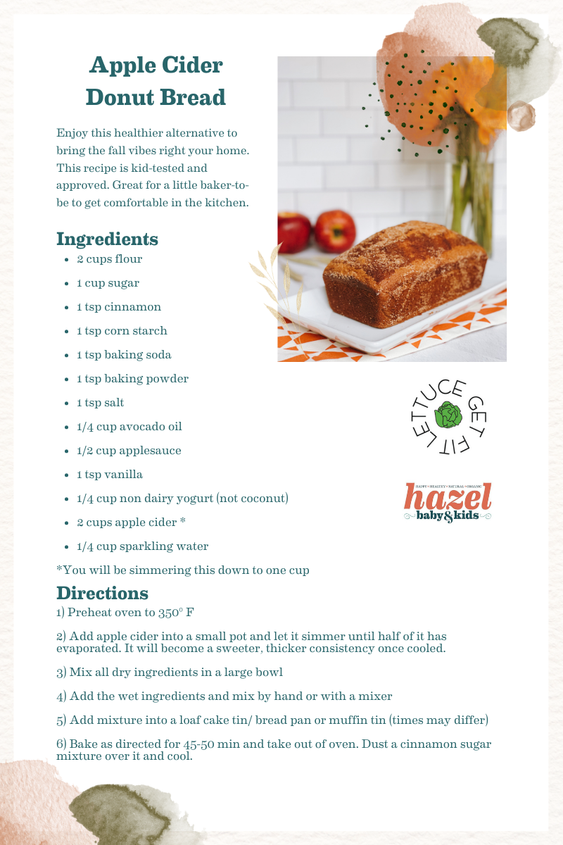 Apple Cider Donut Bread Healthy Fall Baking With Kids