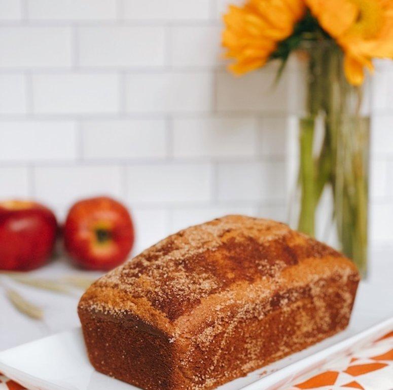 Vegan Apple Cider Donut Bread Recipe