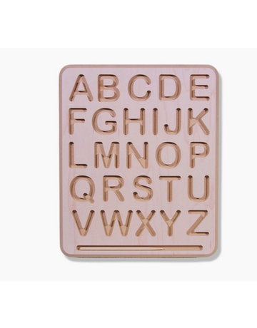 Begin Again - Wooden Alphabet & Numbers Tracing Board Uppercase