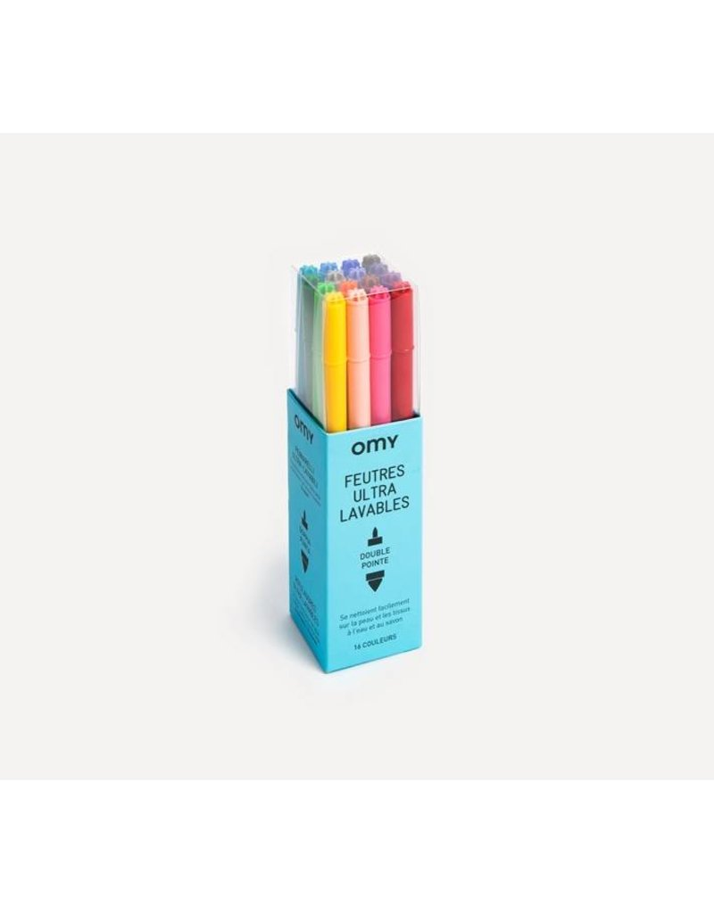 Omy - Ultra-Washable Felt Pens