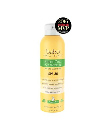 Babo Botanicals Babo Botanicals - SPF30 Sheer Zinc Mineral Spray - Unscented 6 oz