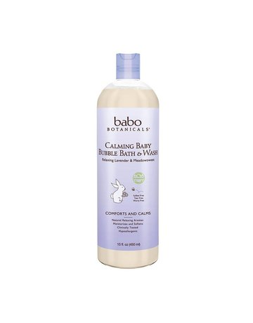 Babo Botanicals Babo Botanicals Lavender 3 in 1 Bubble Bath / Wash 15 oz.