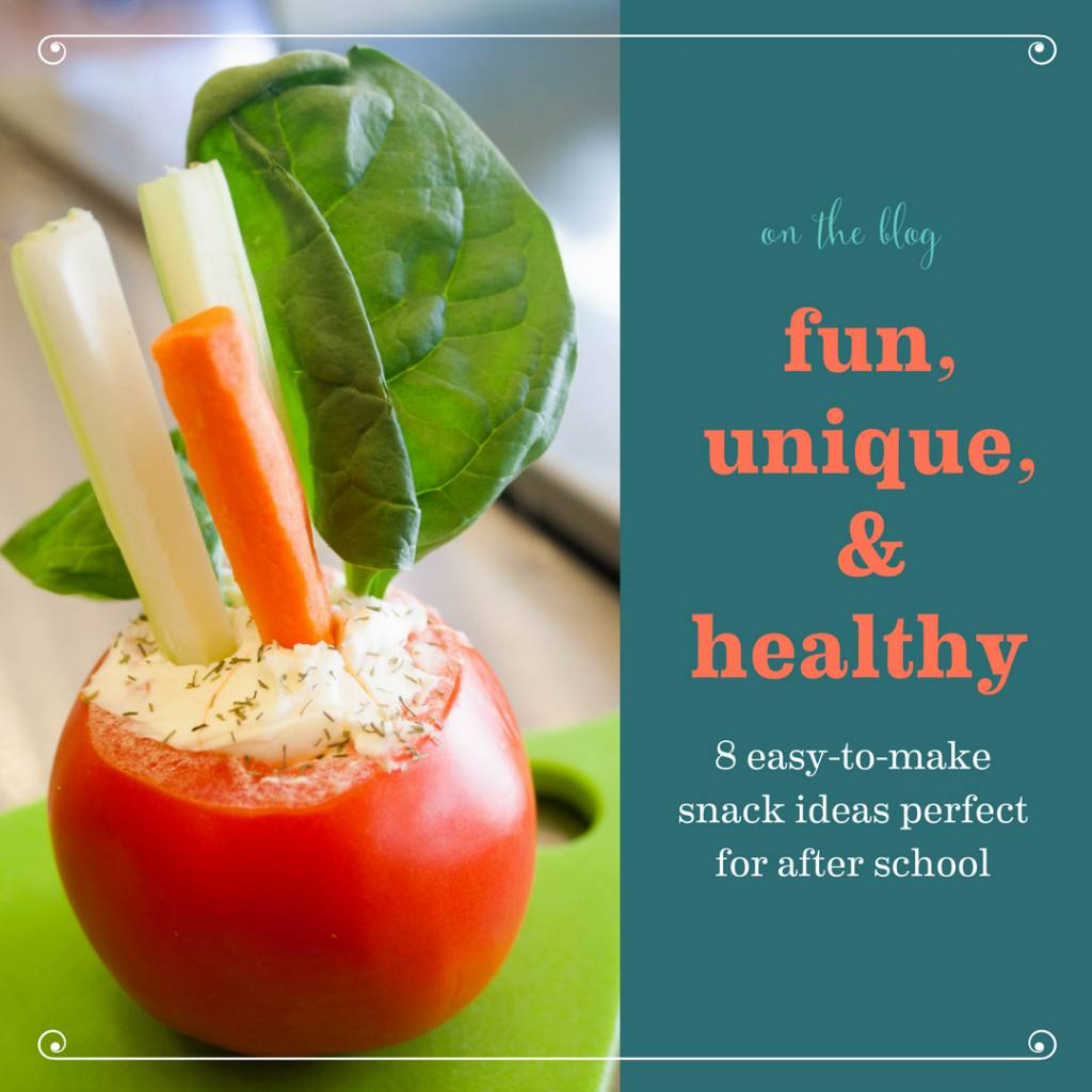 8 Easy and Healthy After School Snacks, from Rene of Bambino Chef